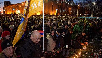 Акция памяти разгона демонстрации в 2008 году в Ереване