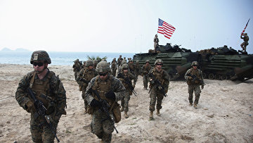 Американские солдаты на военных учениях в Таиланде