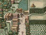 Деревня племени секотонов