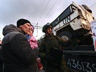 """Прибытие поезда """"Сирийский перелом"""" в Ростов-на-Дону"""