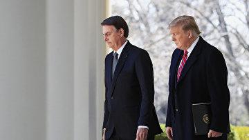 Президент Бразилии Жаир Болсонару и президент США Дональд Трамп