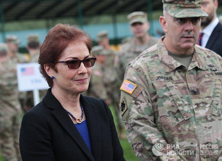 Церемония открытия военных учений Rapid Trident-2017 в Львовской области