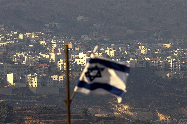 Израильский флаг на Голанских высотах