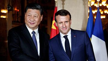 Президент Франции Эммануэль Макрон и председатель КНР Си Цзиньпин