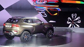 Презентация нового автомобиля LADA 4x4 Vision на Московском международном автомобильном салоне 2018