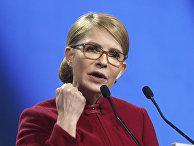 Пресс-конференция кандидата в президенты Украины Юлии Тимошенко