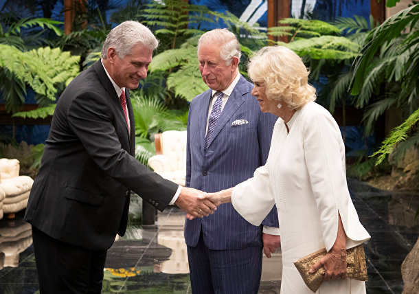 Принц Чарльз, Камилла и президент Кубы