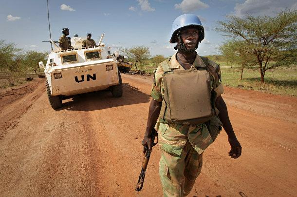 Военные на территории Абьей в Судане