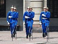 Караул у Королевского дворца в Стокгольме, Швеция