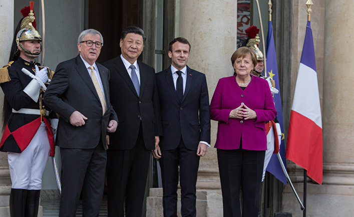 Встреча лидеров стран ЕС и Китая в Париже