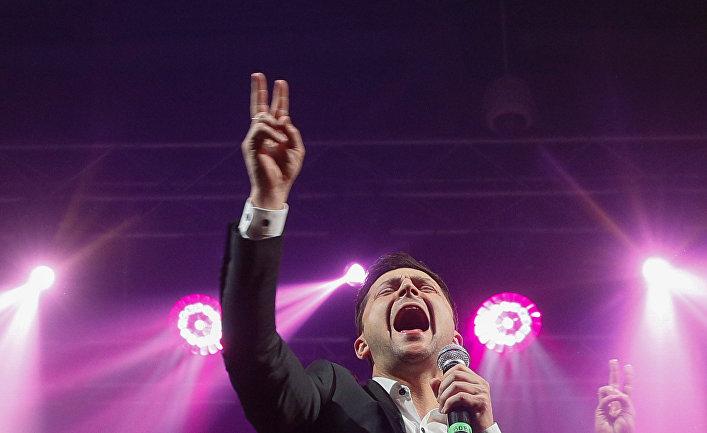 Владимир Зеленский во время концерта в Броварах