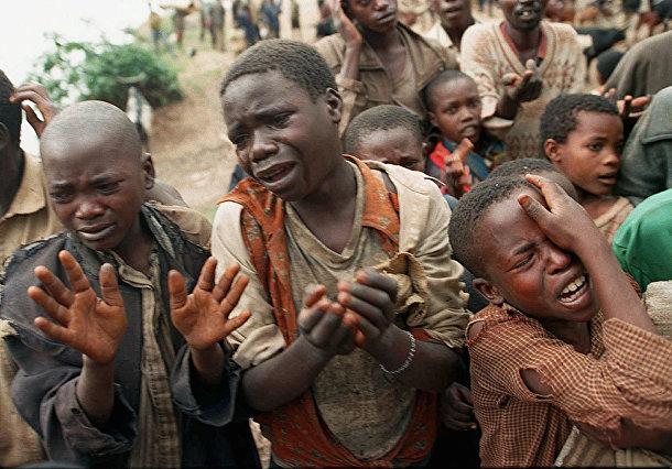 Руандийские дети-беженцы