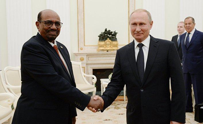 Президент РФ В. Путин встретился с президентом Судана О. аль-Баширом