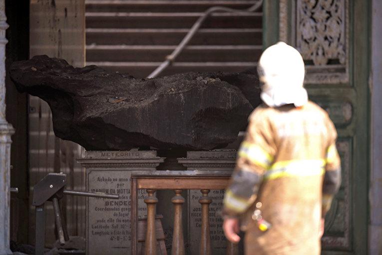 Пожар в Национальном музее Бразилии