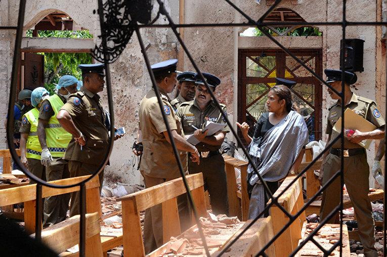 Последствия теракта в церкви в Негамбо, Шри-Ланка