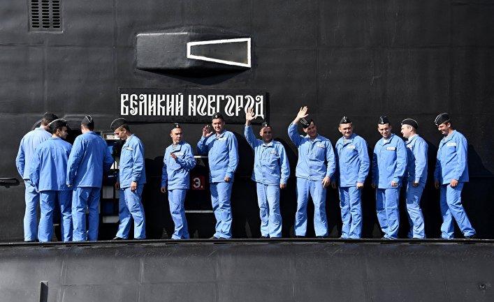 Подлодка «Великий Новгород» в 2017 году вошла в состав постоянной группировки ВМФ России в Средиземном море