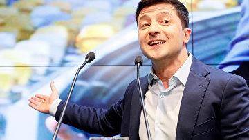 "Кандидат в президенты от партии ""Слуга народа"" Владимир Зеленский"