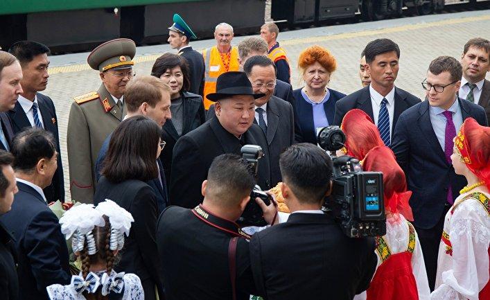 Лидер КНДР Ким Чен Ын прибыл в Россию