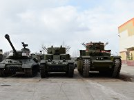 Испытания копии советского танка Т-35 в Екатеринбурге