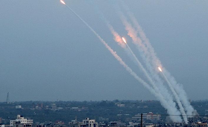 Ракеты, выпущеные из сектора Газы в сторону Израиля