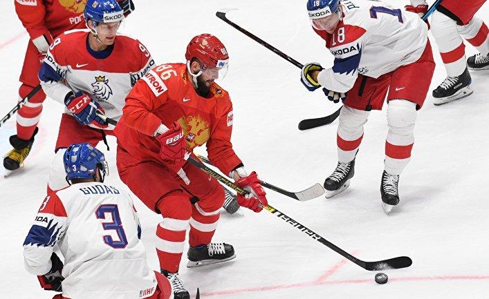 Хоккей. Чемпионат мира. Матч Россия - Чехия