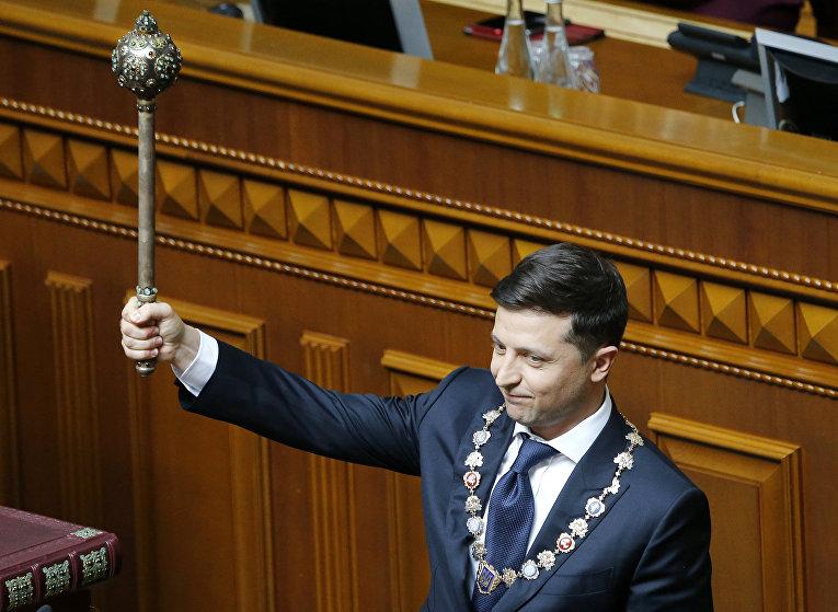 Новый президент Украины Владимир Зеленский