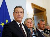Вице-канцлер Австрии Хайнц-Кристиан Штрахе