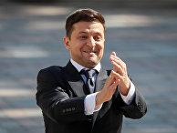 Избранный президент Украины Владимир Зеленский перед церемонией инаугурации в Киеве
