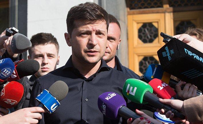Брифинг избранного президента Украины В. Зеленского