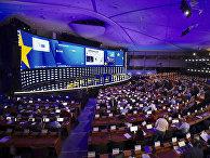 Журналисты освещают выборов в Европейском парламенте в Брюсселе