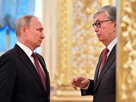 Президент РФ В. Путин встретился с президентом Казахстана К.-Ж. Токаевым