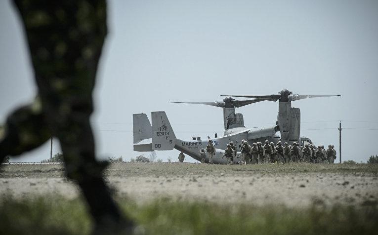 Американские солдаты на учениях НАТО в Бабадаге, Румыния