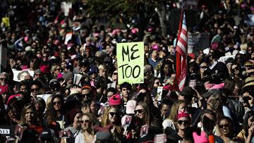 Акция протеста против сексуального насилия в Лос-Анджелесе, США