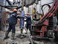 Рабочие на газовом месторождении в Бованенково, Ямал