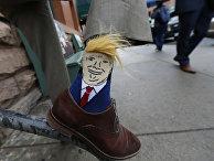 Носок с изображением Дональда Трампа