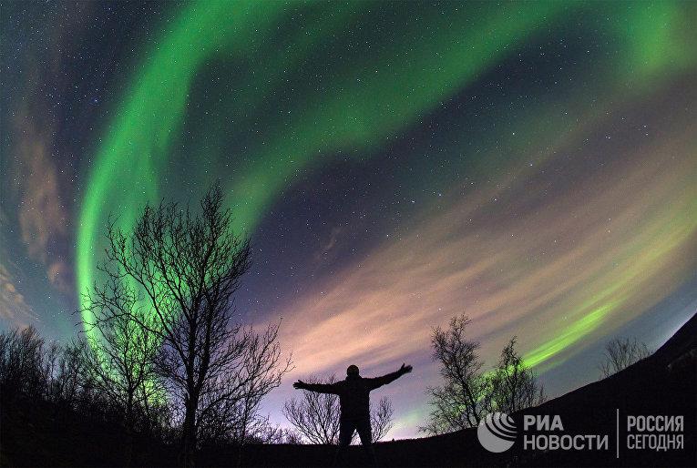 Северное сияние в Мурманской области