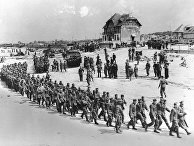 Немецкие военнопленные, захваченные во время высадки союзников в Нормандию