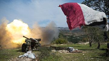 Armée syrienne dans la province d'Idlib