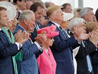 Мировые лидеры на мероприятии, посвященном вторжению союзников на пляжи Нормандии во время Второй мировой войны