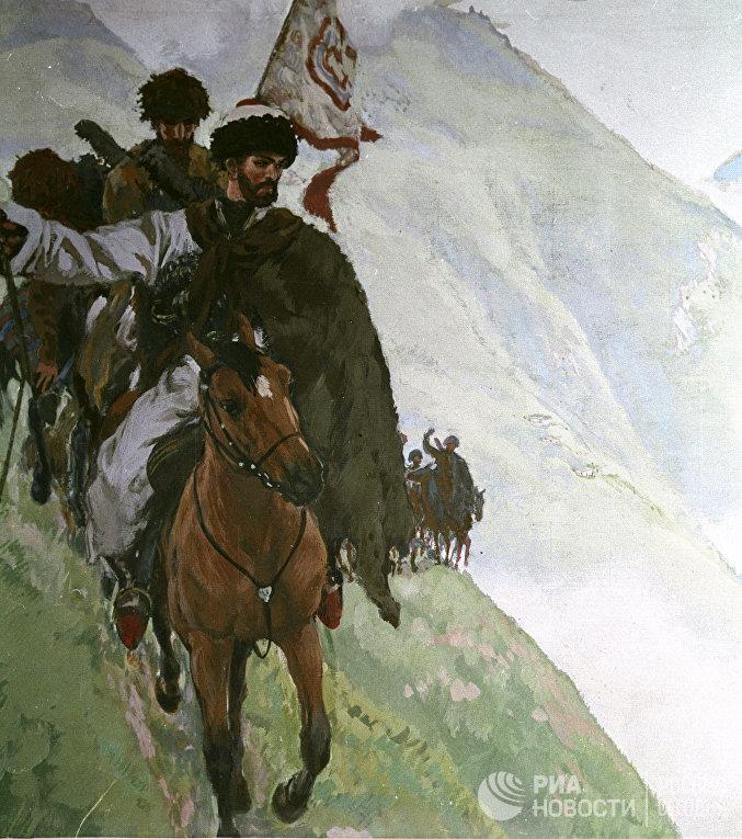 """Хаджи-Мурат с мюридами"""