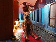 Афганцы моются в традиционном хаммаме