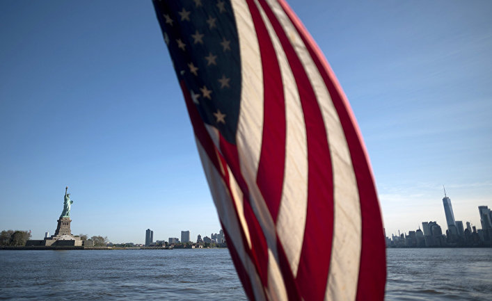 Флаг США в Нью-Йорке