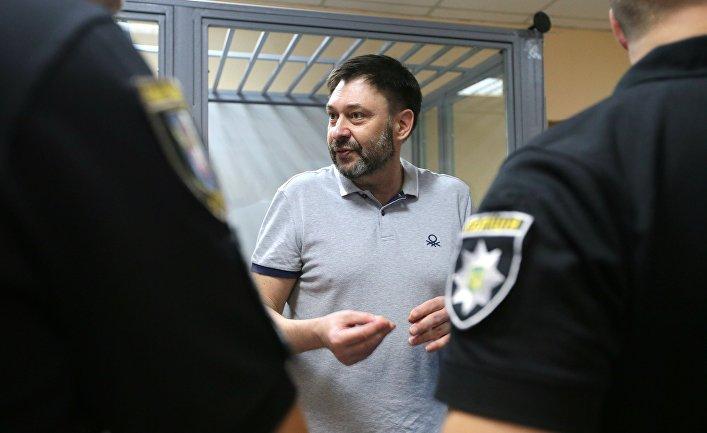 Заседание суда по делу журналиста К. Вышинского в Киеве