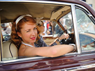 Женское ралли на классических автомобилях