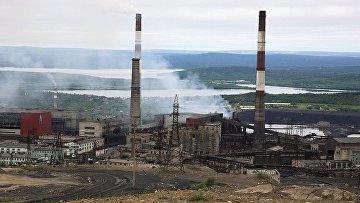 Горно-металлургический комбинат «Печенганикель» в городе Никель, Мурманская область