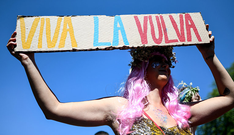 Участник гей-парада во Фрайбурге, Германия