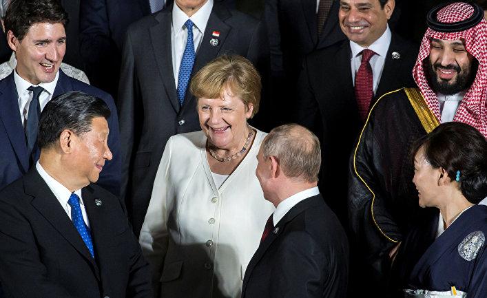 Ангела Меркель и другие мировые лидеры на саммите G20 в Осаке, Япония