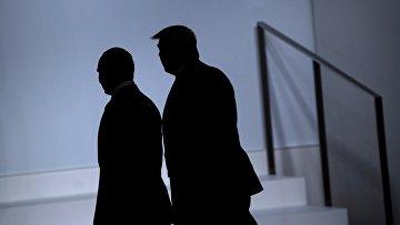 28 июня 2019. Путин и Трамп после встречи на полях саммита G20 в Осаке, Япония