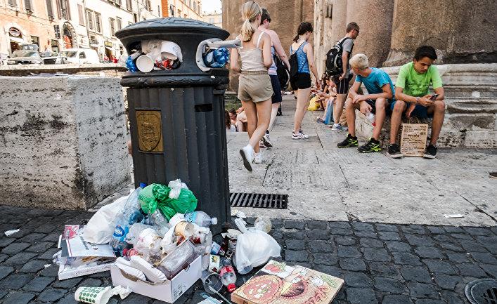 Мусор в Риме, Италия