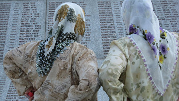 Памятник жертвам геноцида в Сребренице
